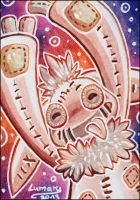 ACEO - Happy Puppet by Lumary92