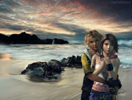 XNALara : Yuna and Tidus by chocaterox