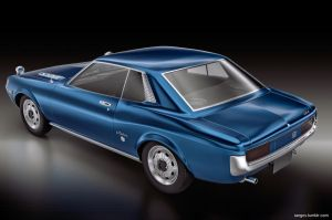 Toyota Celica GT 1967 rear by sergoc58