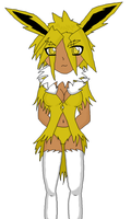 Mikha the Jolteon Lined by Jaelachan