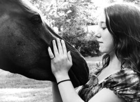 A girl and her horse by solagratia