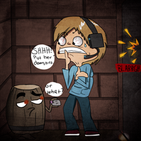 Pewdie and the BARREL!!! by SoSaucy