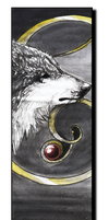 Wolf- Gold Line-Bookmark by WhiteSpiritWolf