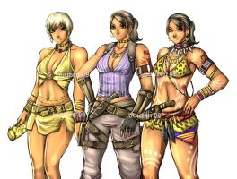 RE5 - sheva all outfits by buuzen
