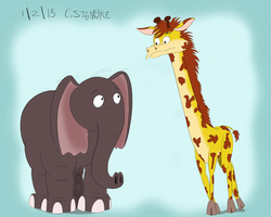 Pachyderm and Giraffidae by qwertypictures