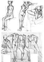 Life drawing: nude by Chartreuse-Gale