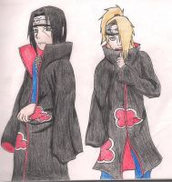 Itachi and Deidara by Baka-Neko-Ninja