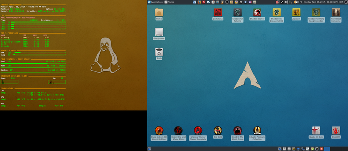 April 2017 Desktop - Arch Linux and Xfce by hamishpaulwilson