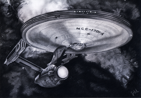 U.S.S. Enterprise - NCC-1701-A by AlyxSP