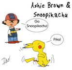 Ashie Brown and Snoopikachu by TeamAquaDan