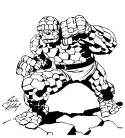 Jack Kirby Thing Inks larger by Irontree1973