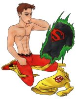 Kid Flash and Superboy shirt by Cesar-Hernandez