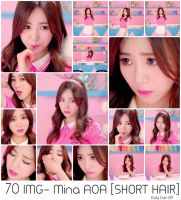 Photopack #23: Mina AOA- Short Hair [Kaly Cat] by Catbeis