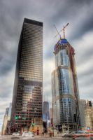 IBM Building and Trump Tower by spudart