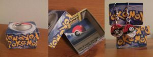 Recycled Pokemon Card Gift Boxes by cunningcatcrafts