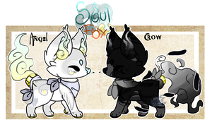 (Closed) Crow and Angel SoulFoxes Auction! by SetSaiI