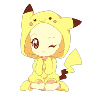 Girl in pikachu costume base by michy123
