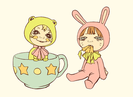 Carrot And Tea Cup by yard-clown