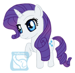 Chibi Rarity by IcyPanther1