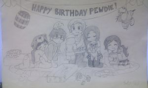 Happy Birthday Pewds! :D by HC-Otaku