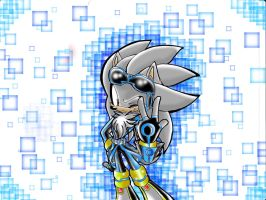Silver the Hedgehog (my ver. again 3rd design) by Reina-wOlf