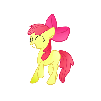 Applebloom (Happy2) by PrincessDonut