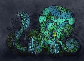 tangling hand -colored- by dragseal