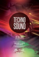 Techno Sound Flyer by styleWish
