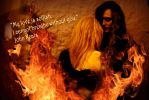 Lovers Wallpaper Flames by arcadian7