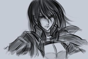 Mikasa speed sketch by sunnyrays