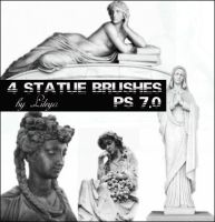 Statue brushes by Lileya