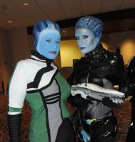 Liara and Morinth by ParadoxJaneDesigns