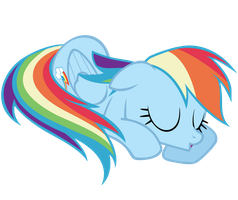 Rainbow Dash - Sleeping by Ocarina0fTimelord