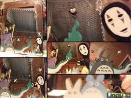 Totoro and Spirit Away mirror by Darkness-nightmare