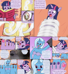 RQST: Twilight n' Trixie Footsie Comic, pg. 1 by DactDigityl