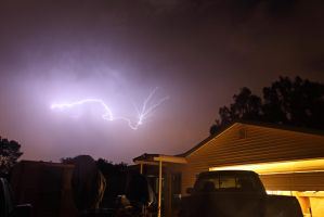 Lightning over Fallbrook by DoomWillFindYou