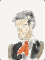 Booker DeWitt - Pre-outlining by ENDYS-ART-HELL