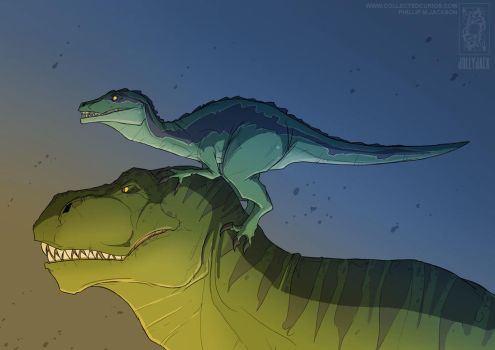 Rex and Blue by jollyjack