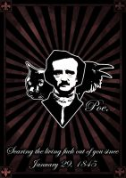 Edgar Allan Poe Tribute by iskallvinter