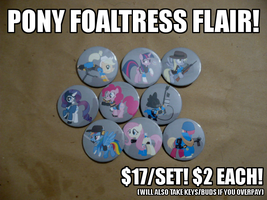 Pony Foaltress Flairs by sparklepeep