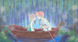 usuk :: kiss the girl // art trade [+ speedpaint] by CaptainJellyroll