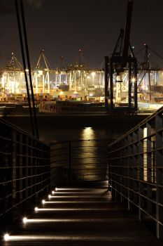 Port at night IV by puppeteerHH