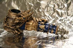 Golden Dragon Pipe - Custom 2 by JohnsonArms