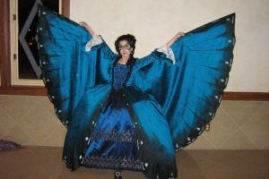 Morpho Butterfly Ballgown by Sarcasm-hime