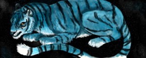 Blue Space Tiger by zooforspectators6