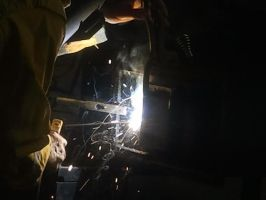My dad welding 2/2 by littlewolfmoccasin