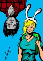 Marshall Lee and Fionna by TheoFayde