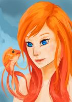 When your split ends turn into goldfish by Shiafira
