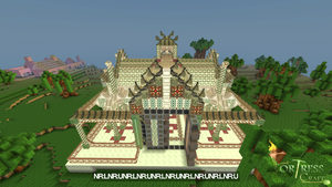 Temple Front Elevated by butcherboytoma