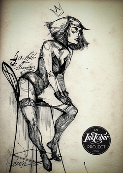 a vixen called sunday - day four of #inktober by all-the-femmes